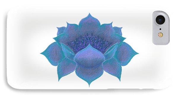 IPhone Case featuring the digital art Blue Lotus by Elizabeth Lock