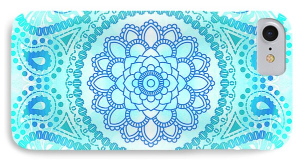 Blue Lotus Mandala IPhone Case by Tammy Wetzel