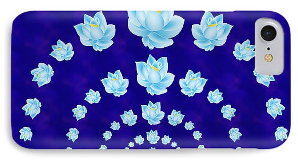Blue Lotus Tunnel IPhone Case by Samantha Thome