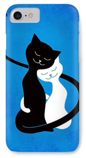 Blue Love Cats IPhone Case