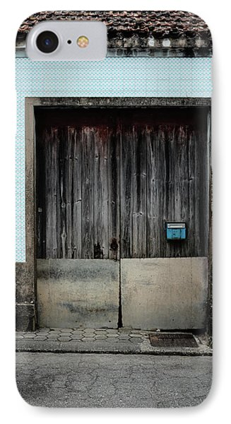 IPhone Case featuring the photograph Blue Mailbox by Marco Oliveira