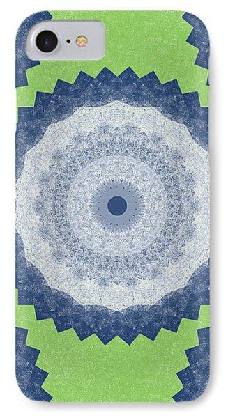 Blue Mandala- Art By Linda Woods IPhone Case by Linda Woods