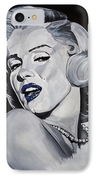 Blue Marilyn  IPhone Case by Brian Broadway