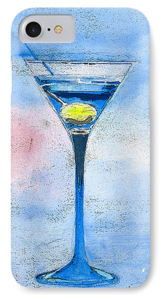Blue Martini Phone Case by Arline Wagner