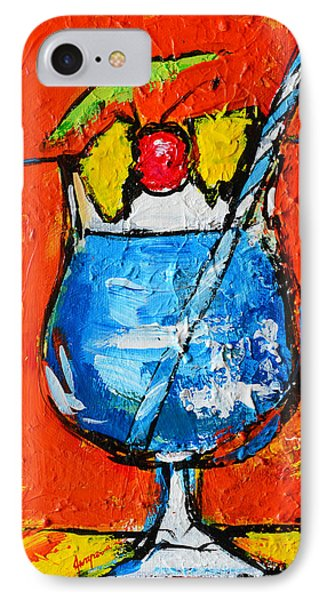 Blue Martini - Hawaiian Style - Tropical Drink IPhone Case by Patricia Awapara