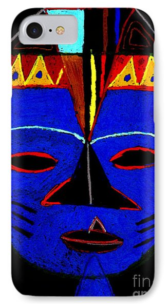 IPhone Case featuring the pastel Blue Mask by Angela L Walker