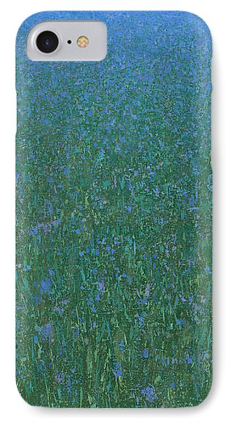 Blue Meadow 2 IPhone Case by Steve Mitchell