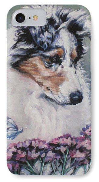 Blue Merle Collie Pup Phone Case by Lee Ann Shepard