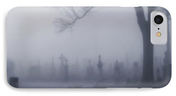 Blue Misted Fog Creeps In IPhone Case by Gothicrow Images