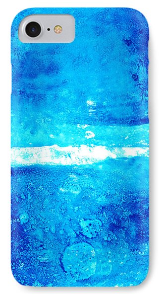 Blue Modern Art - Two Pools - Sharon Cummings IPhone Case by Sharon Cummings
