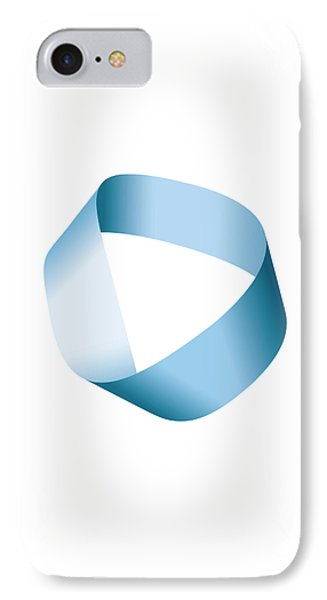 Blue Moebius Strip Or Mobius Band IPhone Case by Peter Hermes Furian