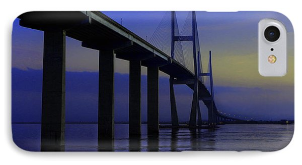 Blue Mood Bridge IPhone Case by Laura Ragland