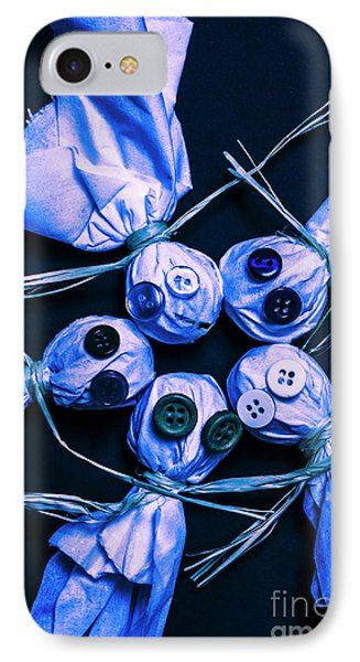 Blue Moon Halloween Scarecrows IPhone Case by Jorgo Photography - Wall Art Gallery