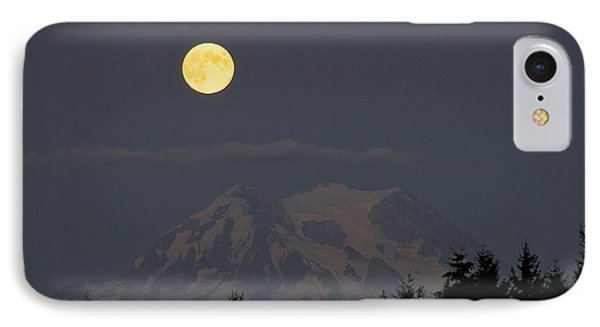 Blue Moon - Mount Rainier IPhone Case by Sean Griffin