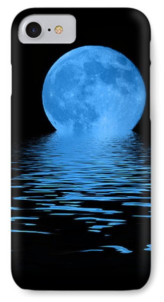 Blue Moon IPhone Case by Shane Bechler