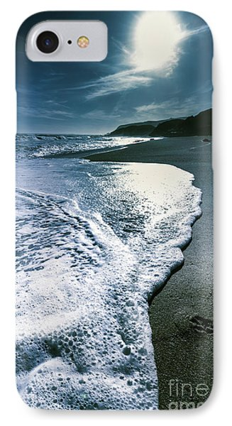 Blue Moonlight Beach Landscape IPhone Case