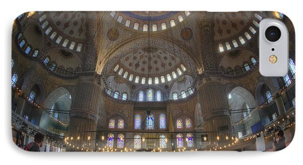 Blue Mosque Interior Phone Case by Joan Carroll