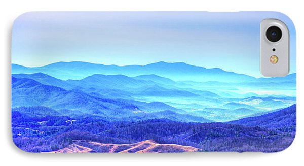 Blue Mountain Mist IPhone Case by Dale R Carlson