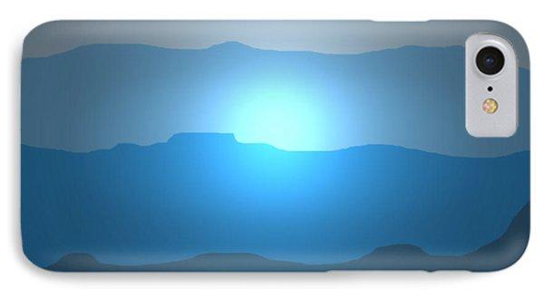 Blue Mountain Sun IPhone Case
