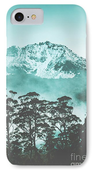 Blue Mountain Winter Landscape IPhone Case by Jorgo Photography - Wall Art Gallery