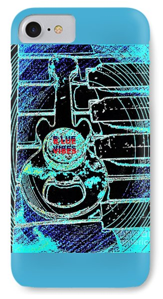 Blue Music Vibes By Jasna Gopic IPhone Case by Jasna Gopic