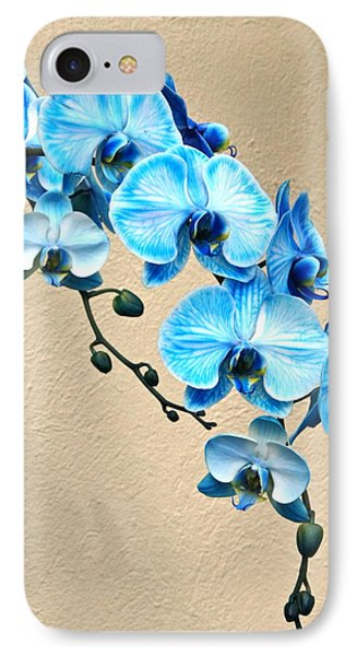 Blue Mystique Orchid IPhone Case