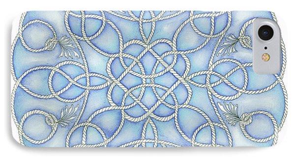 Blue Nautical Mandala 2 IPhone Case by Stephanie Troxell