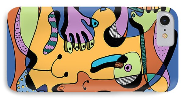 Blue Nude Number Two Phone Case by Geoff Greene