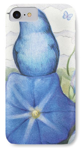 Blue On Blue Phone Case by Amy S Turner
