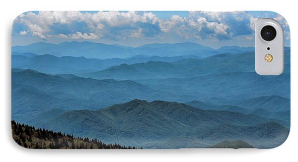 Blue On Blue - Great Smoky Mountains IPhone Case by Nikolyn McDonald