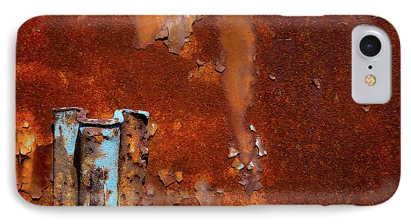 IPhone Case featuring the photograph Blue On Rust by Karol Livote
