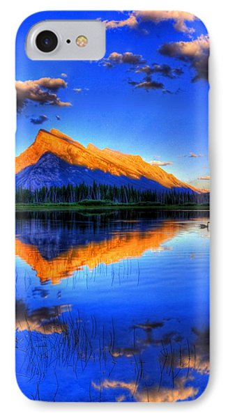 Blue Orange Mountain IPhone Case