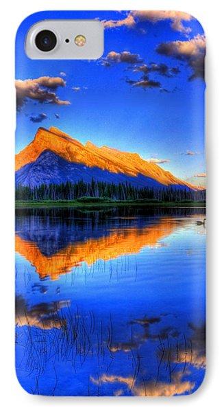 Blue Orange Mountain IPhone Case by Test Testerton