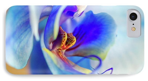 Blue Orchid IPhone Case by Stelios Kleanthous