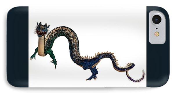 Blue Ornamental Dragon IPhone Case