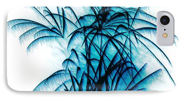Blue Palm Fireworks By Kaye Menner IPhone Case by Kaye Menner