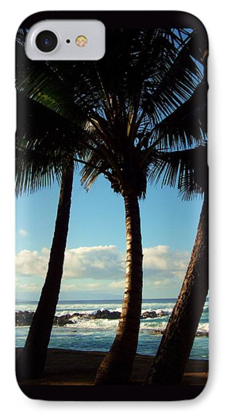 Blue Palms Phone Case by Karen Wiles