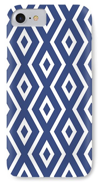 Simple iPhone 7 Case - Blue Pattern by Christina Rollo