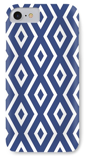 Blue Pattern IPhone Case by Christina Rollo