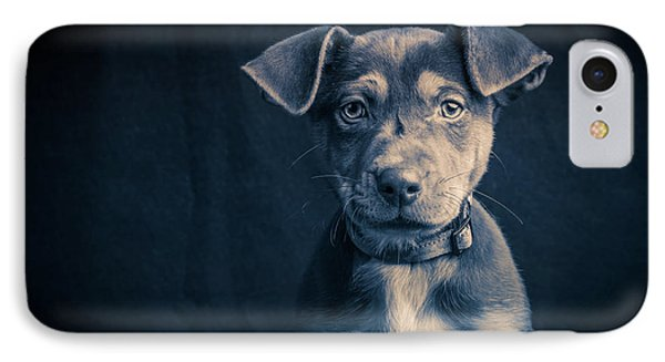 Blue Period Puppy IPhone Case by Edward Fielding