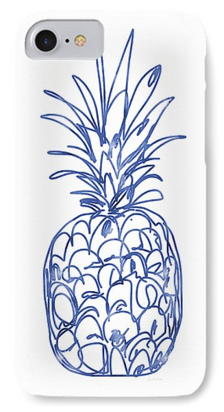 Blue Pineapple- Art By Linda Woods IPhone 7 Case