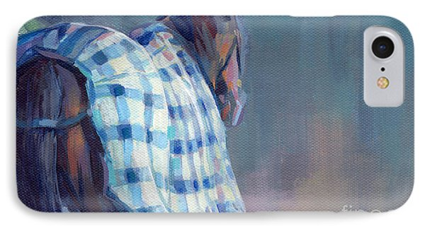 Blue Plaid Phone Case by Kimberly Santini