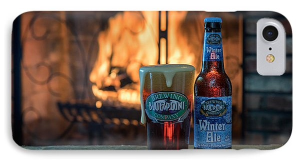 Blue Point Winter Ale By The Fire Phone Case by Rick Berk
