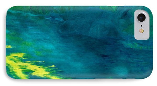 Blue Pool Off Ulaino Road Phone Case by Fay Biegun - Printscapes