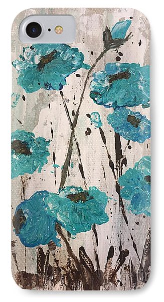 IPhone Case featuring the painting Blue Poppies by Lucia Grilletto