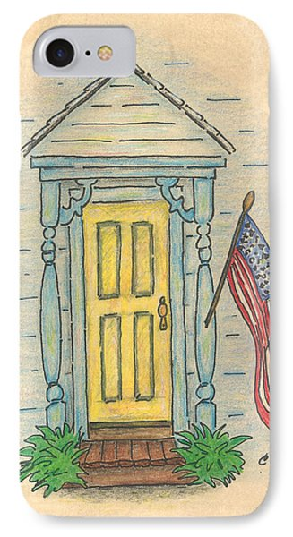 Blue Porch IPhone Case by Carol Neal
