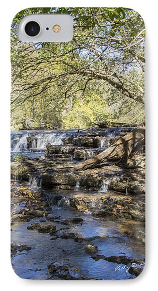 Blue Puddle Falls IPhone Case by Ricky Dean