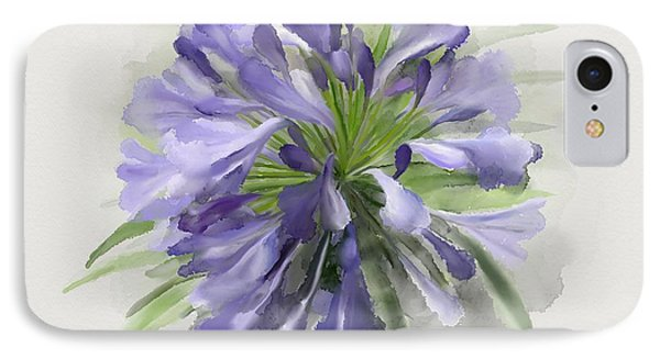 Blue Purple Flowers IPhone Case by Ivana Westin