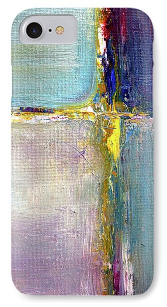 IPhone 7 Case featuring the painting Blue Quarters by Nancy Merkle