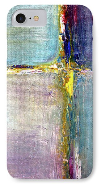 IPhone Case featuring the painting Blue Quarters by Nancy Merkle